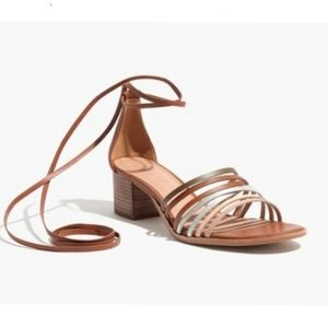Madewell Rosalind strappy lace up sandals